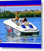 Boating On The Fourth Of July Metal Print by Joseph Coulombe