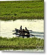 Boating On The Nile River Metal Print