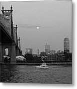 Boating Under The Bridge Metal Print