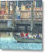 Boating With The Kids Metal Print