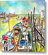 Boats And Boardwalks By Brittany 02 Metal Print