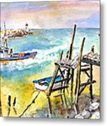 Boats And Boardwalks By Brittany 01 Metal Print