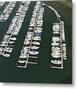 Boats And Docks At Cap Sante Marina Metal Print