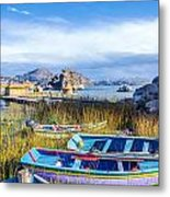 Boats And Floating Islands Metal Print