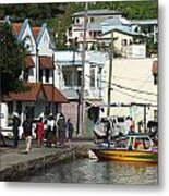 Boats And Telephones Metal Print