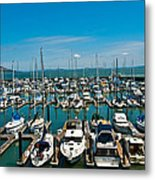 Boats At Bay Metal Print