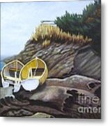 Boats At Berry Point Metal Print