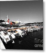 Boats At Brindisi Metal Print