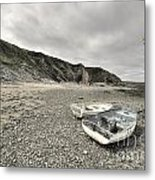 Boats At Bude  Metal Print