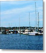 Boats At Newport Ri Metal Print