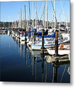 Boats At Rest. Sausalito. California. Metal Print