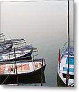 Boats At Sangam Metal Print