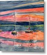 Boats At Skaneateles Lake Ny Metal Print