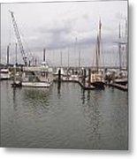 Boats At St. Augustine Harbor  Metal Print
