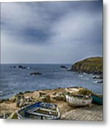Boats At The Lizard Metal Print