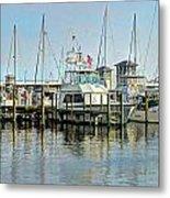 Boats At The Marina Metal Print