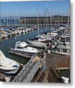 Boats At The San Francisco Pier 39 Docks 5d26004 Metal Print