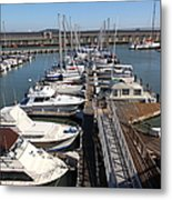 Boats At The San Francisco Pier 39 Docks 5d26005 Metal Print