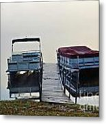 Boats By The Dock Metal Print