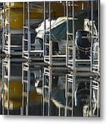 Boats Docked For The Winter Metal Print