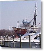 Boats Docked Metal Print