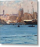 Boats In A Port Metal Print