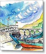 Boats In Barca De Alva 02 Metal Print