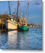 Boats In Blue Metal Print