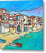Boats In Front Of Buildings Viii Metal Print by Xueling Zou
