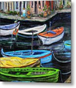 Boats In Front Of The Buildings II Metal Print