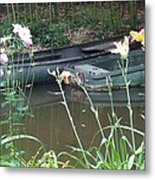 Boats In Giverny Metal Print
