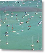 Boats In Harbor Metal Print