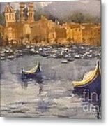 Boats In Malta Metal Print