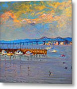 Boats In Piermont Harbor Ny Metal Print