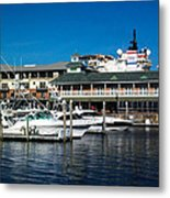 Boats In Port 3 Metal Print