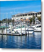 Boats In Port 5 Metal Print