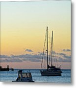 Boats In The Early Evening Metal Print