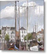 Boats In The Harbor 1905 Metal Print