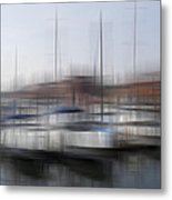 Boats In The Marina Metal Print