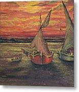 Boats In The Sea Metal Print