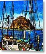 Boats Of Morro Bay Metal Print