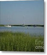 Boats On A Calm Bay.04 Metal Print