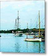 Boats On A Calm Sea Metal Print