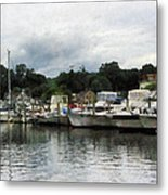 Boats On A Cloudy Day Essex Ct Metal Print