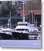 Boats On Lake Union Metal Print