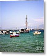 Boats On The Aegean Sea 1 - Mykonos - Greece Metal Print