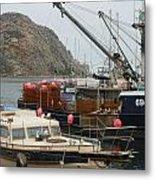 Boats On Morro Bay Metal Print