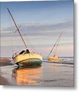 Accidentally - Boats On The Beach Metal Print