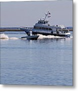 Boats On The Intracoastal Metal Print