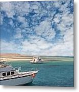 Boats On The Red Sea Coast Metal Print